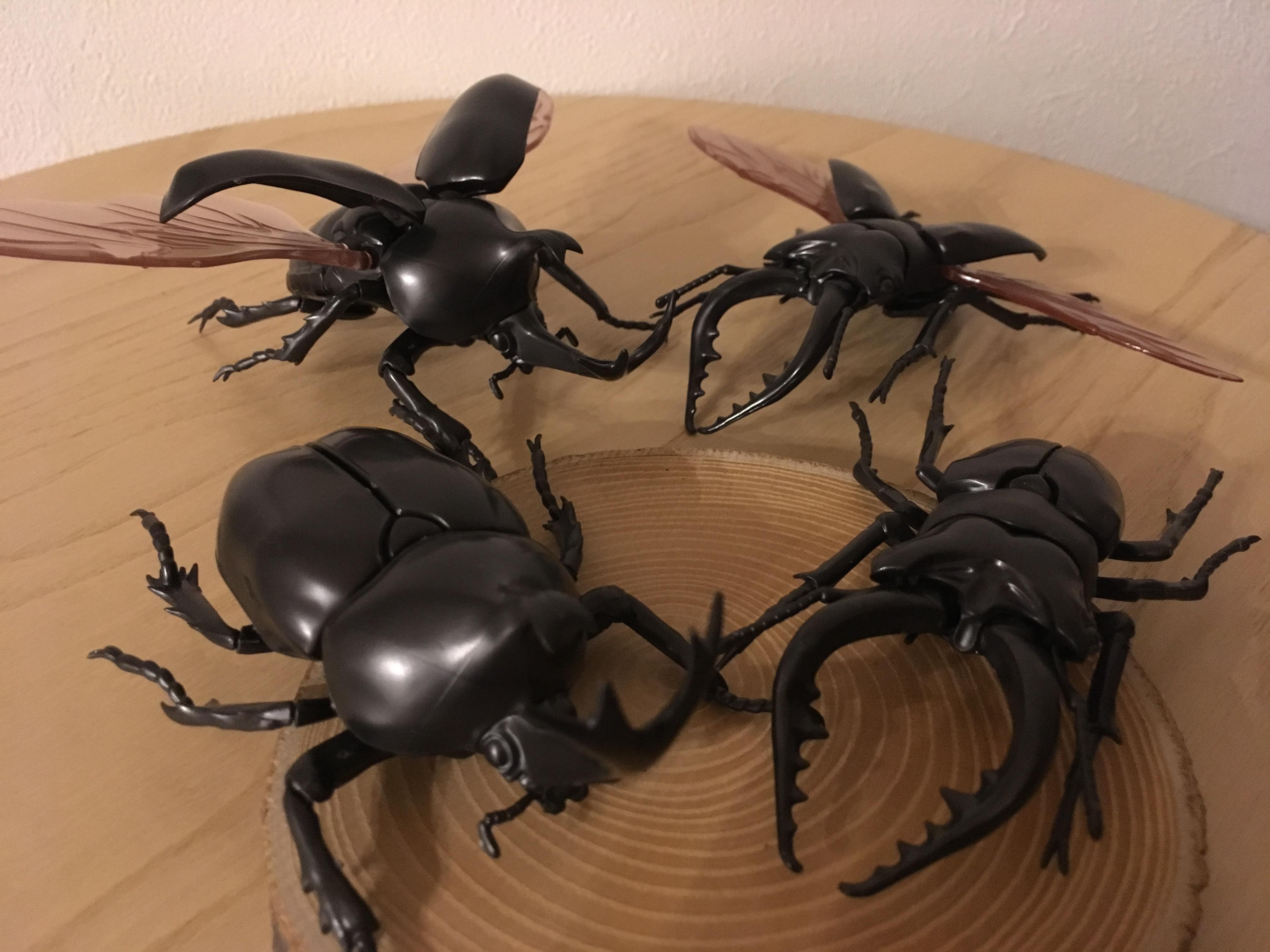 【組立レビュー】カブトムシとクワガタムシのプラモデルがリアルで凄い!
